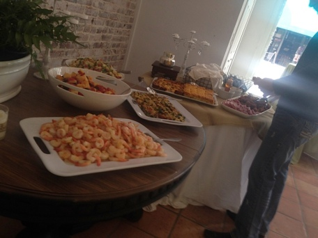 2014 - Blake and food table