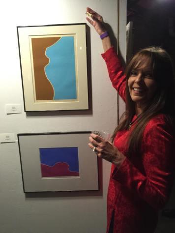 2016 - Nancy Wilton with John's prints