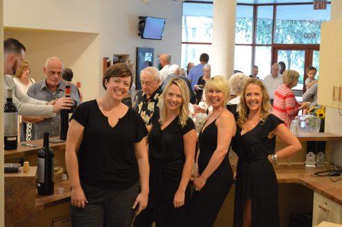 2019-09-20 MoArt Guilds Wine Bourbon Event - Adrienne Erica Diana Cam